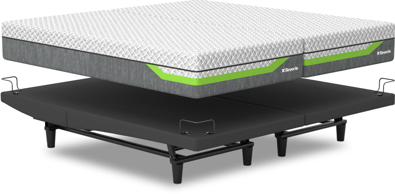 Split King Reverie Sleep System with Dream Supreme II Hybrid and R650 Adjustable Base
